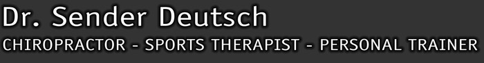Dr. Sender Deutsch Toronto Chiropractor, Sports Therapist, Personal Fitness Trainer